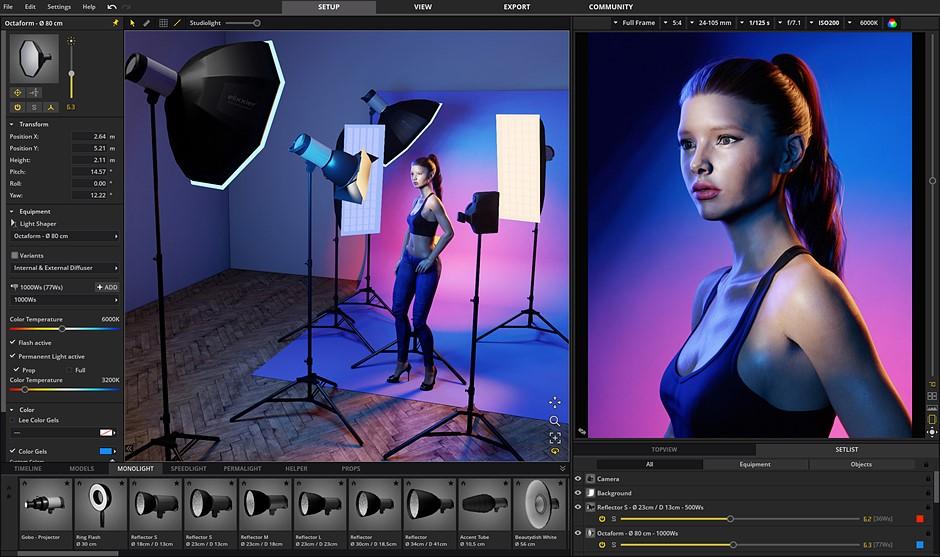 Practice your portrait lighting in lockdown with this virtual studio program