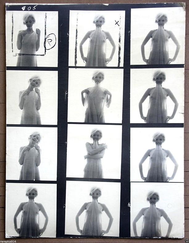 Rare, original Marilyn Monroe contact sheet by Bert Stern appears on eBay for $195K