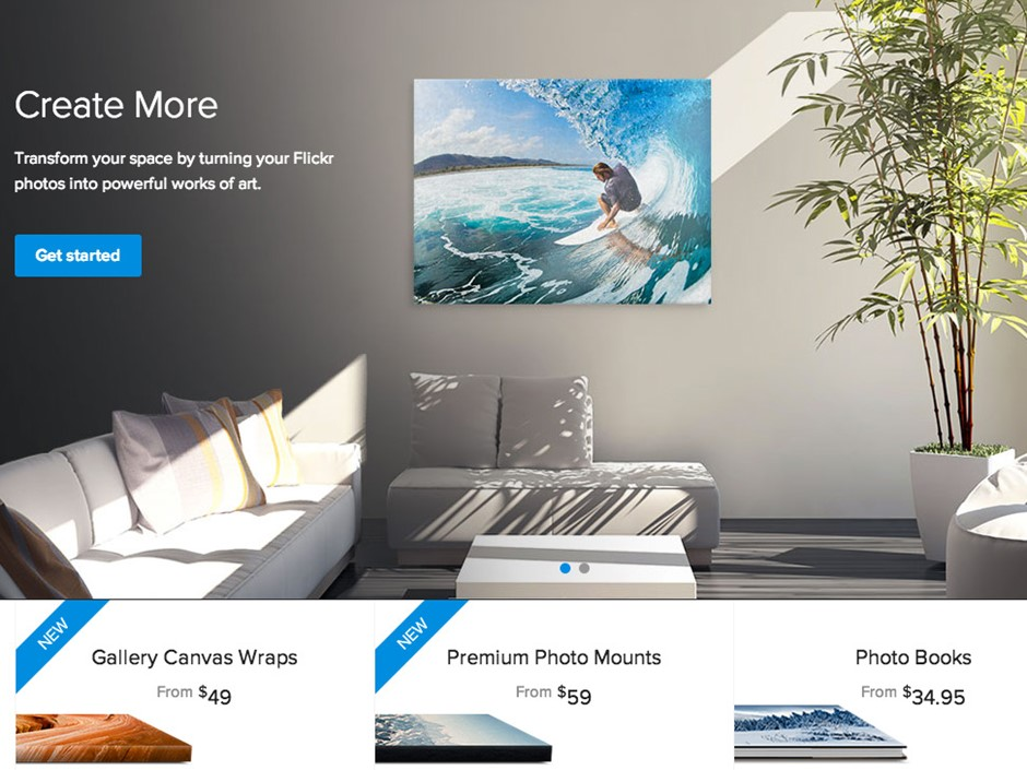 Flickr introduces Wall Art printing service