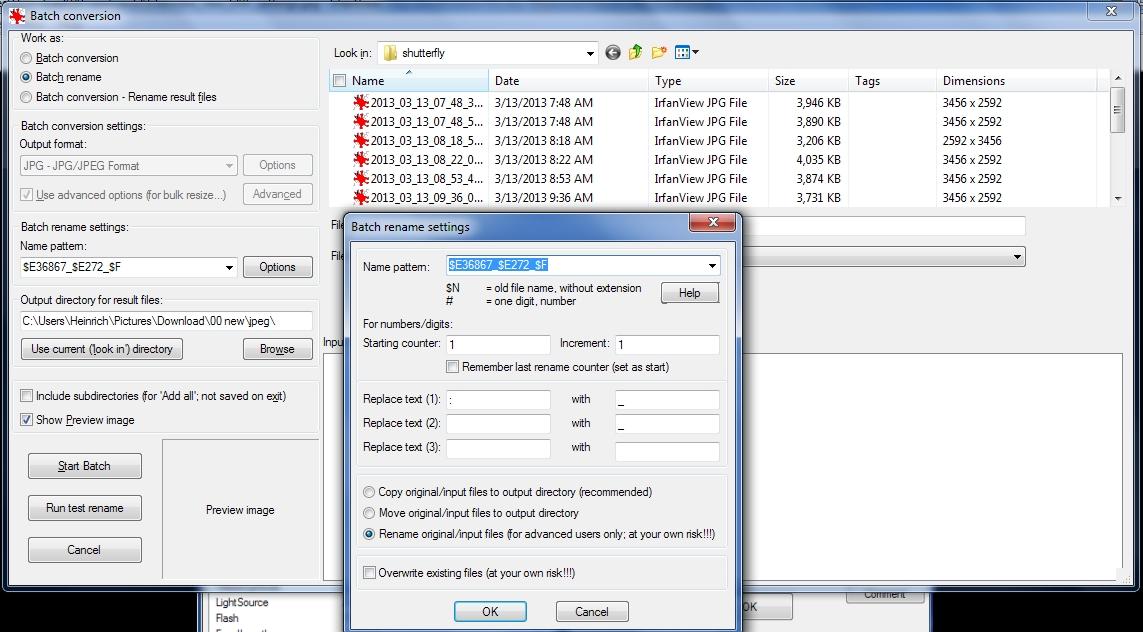 Copying EXIF 'date taken' to Windows file name: PC Talk