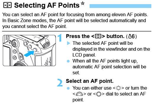 Selecting AF points on 6D?: Canon EOS-1D / 5D / 6D Talk