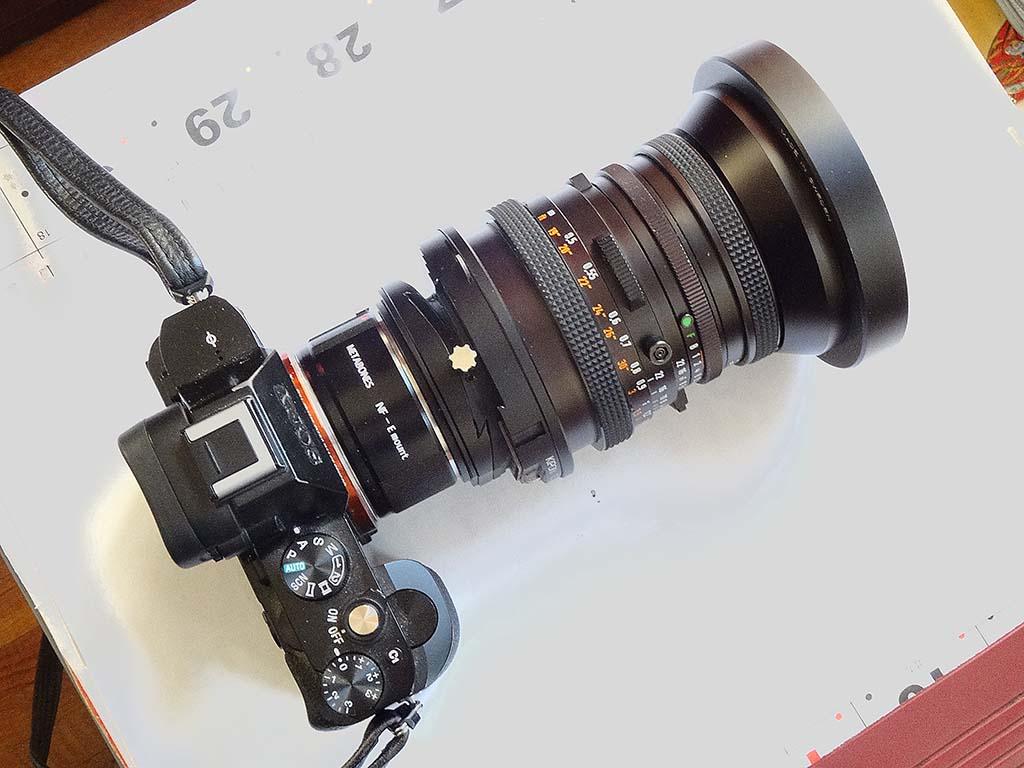 Fyi A7 Handheld Kipon Ts R Hasselblad V Lens Adapter Sony Alpha Nikon G To Fujifilm Gfx Camera View Original Size