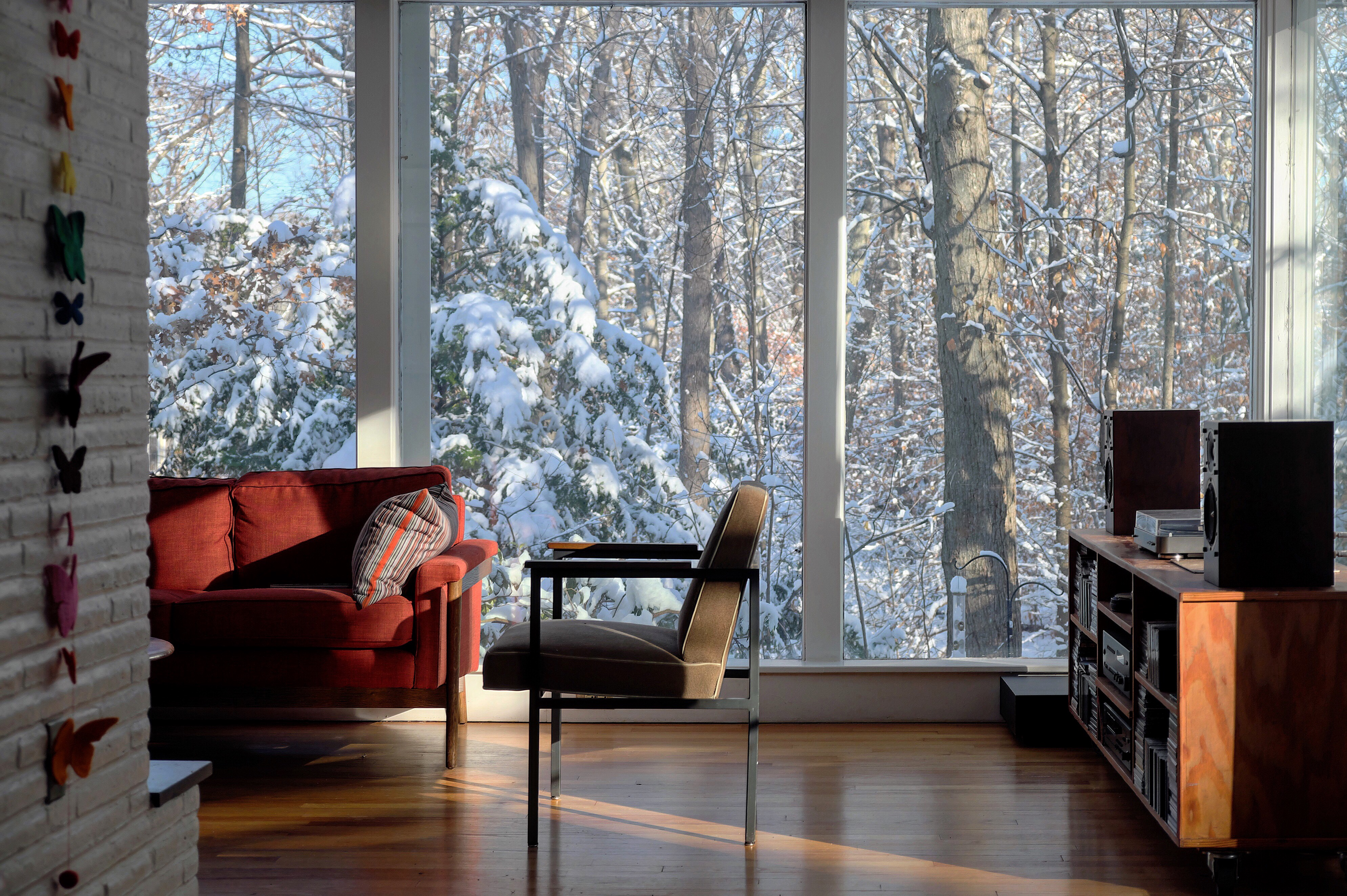 Floor to Ceiling Glass First Snow X T20 18 55 = Stunning