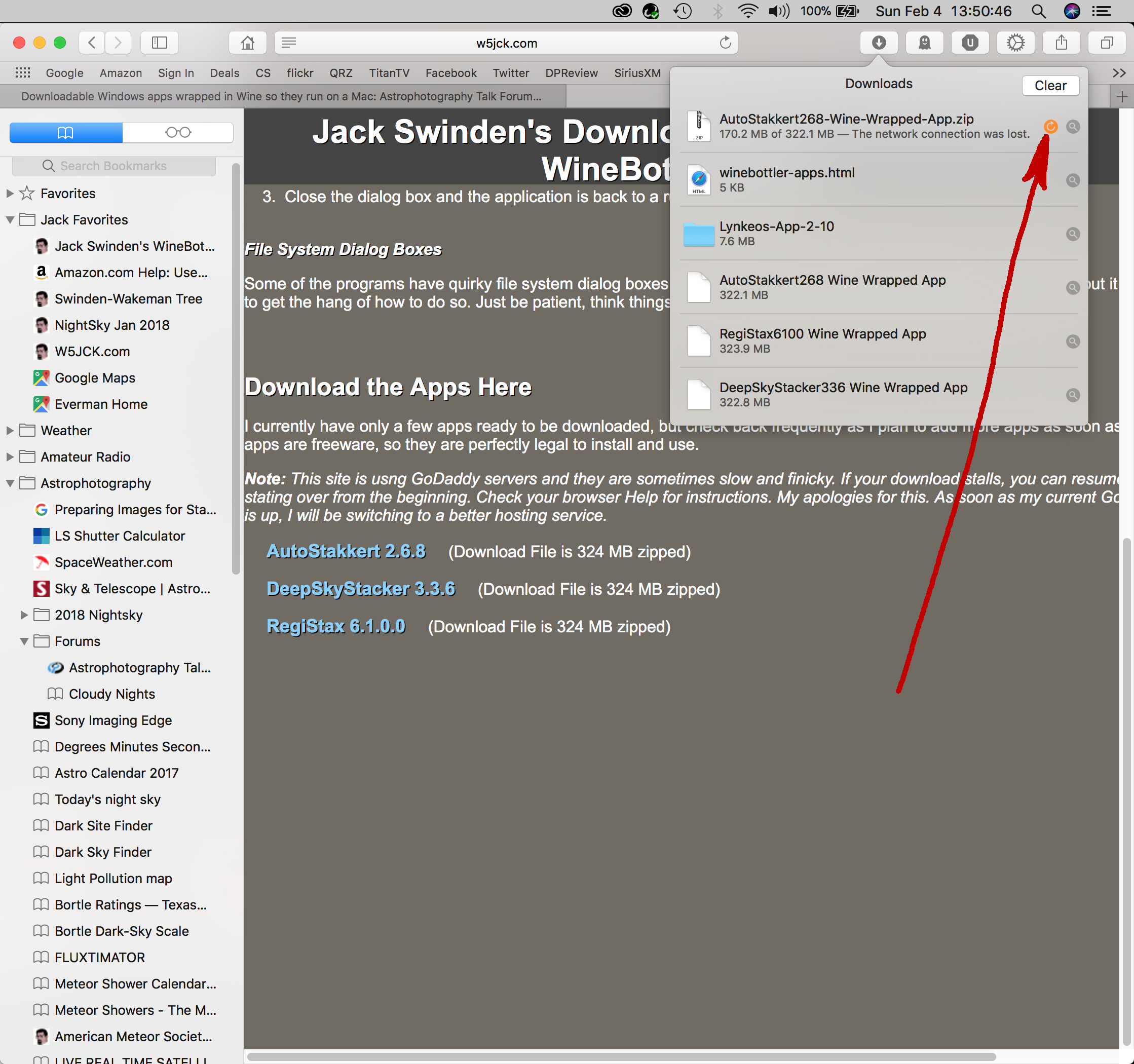 Downloadable Windows apps wrapped in Wine so they run on a Mac