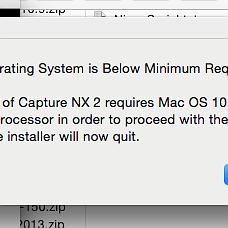 Yosemite and Nikon Capture NX2 Failure