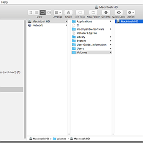 Mac HD nested in its own folder(itself) in finder -- What the cure?