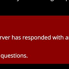 Cannot post due to server error?