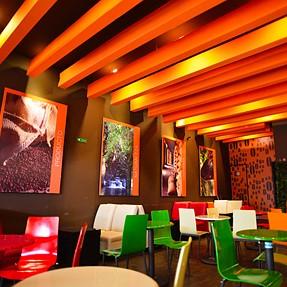 Color coffee shop