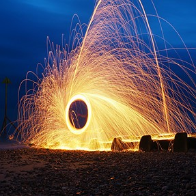 1st Attempt of Steel Wool Photography