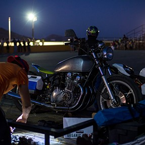 Willow Springs Motorcycle Drag night