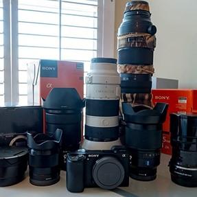 Sony FE Lenses/ 24-70 GMaster F2.8 / 35 1.4 / 70-200 F4