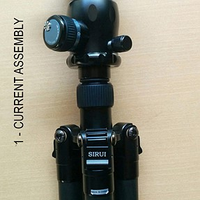 Sirui tripod & head - am I assembling it incorrectly ?