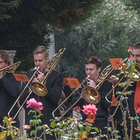 D750 shoots Booroondara Band through roses Norwegian National Day Melbourne