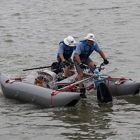 North Coast Great Kinetic Sculpture Race: EM1ii with old 50-200