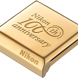 Nikon 100th commemorative hotshoe cover --- GOLD!