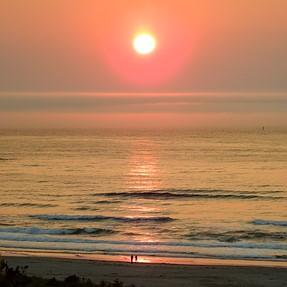 Oregon smoky sunset