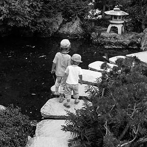 Children in Japenese garden (Germany)