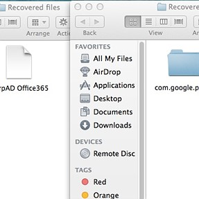 """What are """"recovered"""" files"""