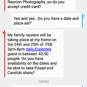 Beware if Family Reunion Scam.
