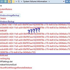 System Restore or VSS files?