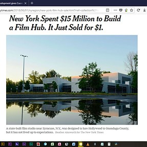 A film studio sold for only $1