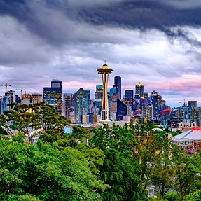 Seattle Skyline with Fuji X-H1