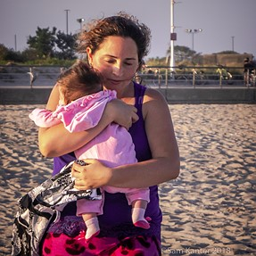 Mother with Daughter, Rockaway Beach, NY