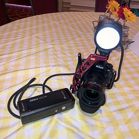 My current (fall 2018) rig for event photography