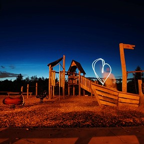 How do I get myself to not show up in light painting photos