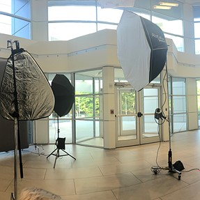 Just a corporate portrait location set up from today