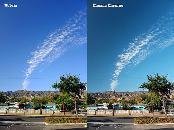 Skies: Velvia vs Classic Chrome: Fujifilm X System / SLR ...