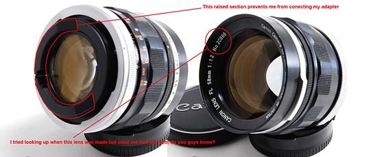 Re: Old Canon FL 58mm F/1 2 ?: Canon SLR Lens Talk Forum: Digital