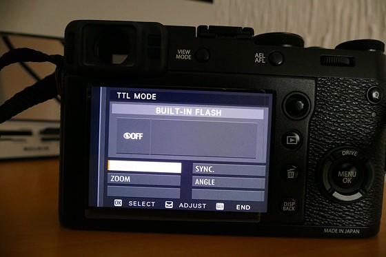 Fujifilm X100f Flash