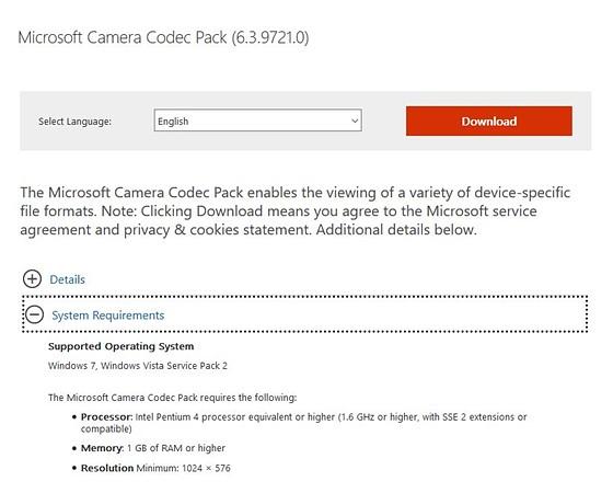 Vista Codec Pack Screenshot