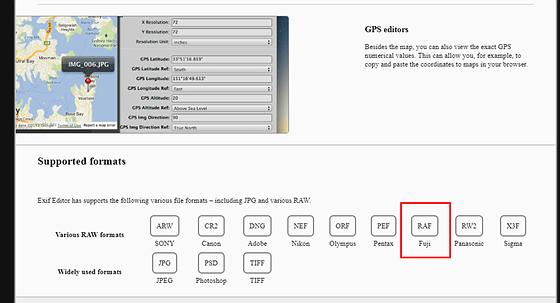 Metadata editor for RAF files: Fujifilm X System / SLR Talk