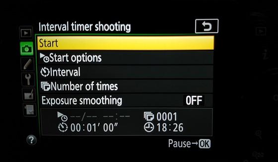 D5600 and the Intervalometer: Nikon DX SLR (D40-D90, D3000