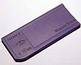 16MB MemoryStick (only 4MB is supplied)