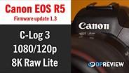 佳能EOS R5 V1.3固件评论(C-LOG 3,1080 / 120P,8K Raw Lite)GydF4y2Ba