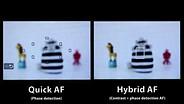 Canon EOS 650 Hybrid AF vs. phase detection AF