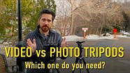 Video tripods and fluid heads vs photo tripods