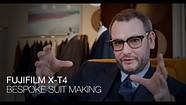 富士X-T4的样品视频突出了定制西装的制作过程