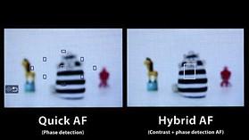 Canon EOS 650 Hybrid AF vs. phase detection AF - by dpreview.com