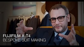 Fujifilm X-T4 sample video highlights the process of bespoke suit making